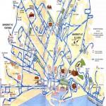 Mapa turístico de Málaga