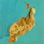 Imagen, Foto Satelite de la isla de El Hierro