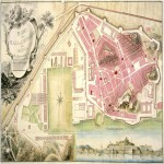 Map of the Plaza de Cartagena and his Arsenal 1799
