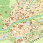 Mapa del centro de Burgos