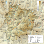 Physical map of Andorra 2009
