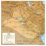 Mapa Físico de Irak 1996