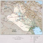 Iraq Physical Map 1993