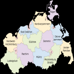 Mapa de Mecklemburgo-Pomerania Occidental 2008