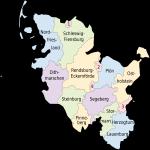 Map of Schleswig-Holstein 2008