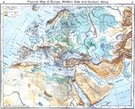 Physical Map of Europe, Western Asia and Northern Africa