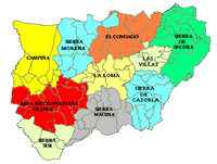 Comarcas of the Province of Jaén 2007