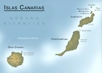 Mapa físico de la Provincia de Las Palmas