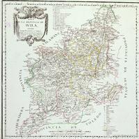 Map of the Province of Ávila 1769