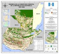 Forest cover of Guatemala 2001-2006
