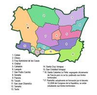 Municipalities of Alta Verapaz