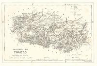 Mapa de la provincia de Toledo 1866