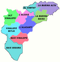 Comarcas of the Province of Alicante