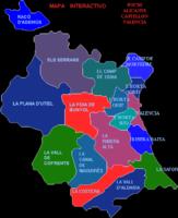 Mapa Mudo de España mostrando sus provincias