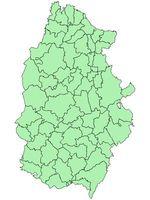 Mapa comarcal de la Provincia de Valladolid 2010
