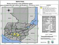Áreas aptas para el cultivo del Persimon en Guatemala