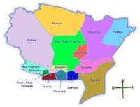 Political map of Alta Verapaz