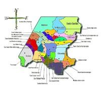 Mapa político de Huehuetenango