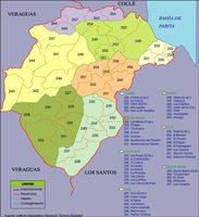 Political map of Herrera