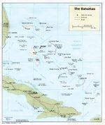 Mapa Político de las Bahamas
