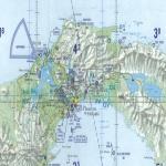 Carta aeronáutica del area del Canal de Panamá