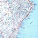 Mapa Blanco y Negro de Misisipi, Estados Unidos