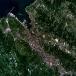 Vista satelital del Área metropolitana de Bilbao