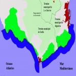 Asturias outline map