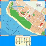 Satellite and road map of the comarca of Priorat