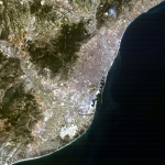 Satellite image of Barcelona 1984