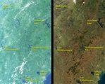Satellite Image, Photo of Lake Memphremagog Region, Southeastern Quebec