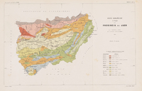 Geological map of the province of Jaén 1883