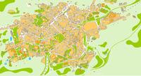 Mapa de Oviedo