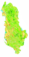 Corine Land Cover 2000 of Albania