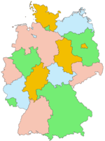 lámina del Mapa mudo General de La República de Alemania