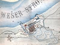 Mapa de Bremerhaven en 1849