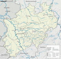 Rivers and relief of North Rhine-Westphalia 2009