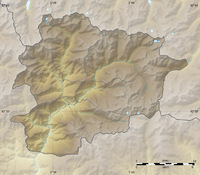Physical map of Andorra 2008