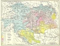 Mapa de Las religiones en Austria-Hungría 1881