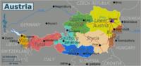 Mapa de Estados federados de Austria