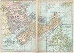 Mapa de las Provincias Marítimas, Canadá 1921
