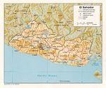Mapa Relieve Sombreado de El Salvador