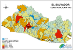 Mapa Censo de Población, El Salvador
