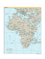 Africa physical map 2006