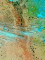 Mapa de Asia (satelital)