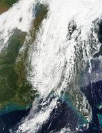 Tormenta de polvareda en Texas y Nuevo México (seguimiento satelital de la mañana)