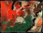 Cobertura de nieve en el Medio Oeste de Estados Unidos