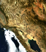 Satellite Image, Photo of Santa Clara Sierra, Baja California, Mexico