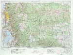 Fukuoka Topographic Map Sheet, Japan 1954