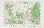 Hoja Grand Canyon del Mapa Topográfico de los Estados Unidos 1953